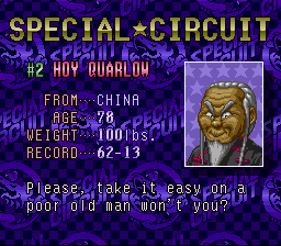 Super Punch-Out!! - Character Profile Hoy Quarlow -  - User Screenshot