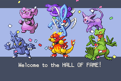 Pokemon Fire Red Omega - My HALL OF FAME! - User Screenshot