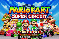 Mario Kart - Super Circuit - Introduction  - Title Screen - User Screenshot
