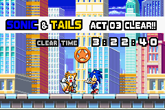 Sonic Advance 3 - Misc Level Clear - Okay.... - User Screenshot