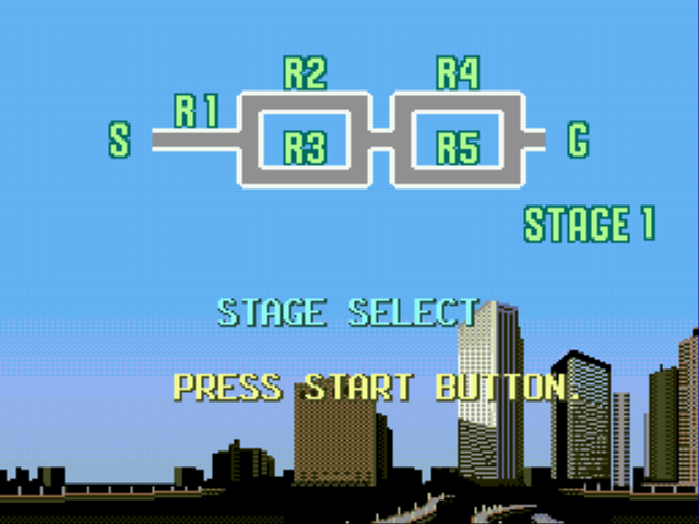 OutRun 2019 - Level Select  - Stage Select Map - User Screenshot