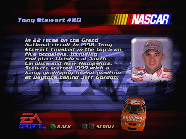 Tony Stewart  -Mini-Game :1 - User Screenshot
