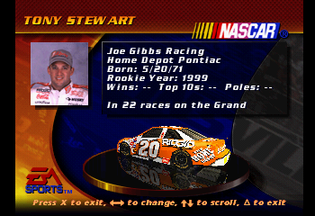 Tony Stewart  -Character Profile :Tony Stewart - User Screenshot