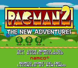 Pac-Man 2 - The New Adventures - Introduction  - Title Screen - User Screenshot