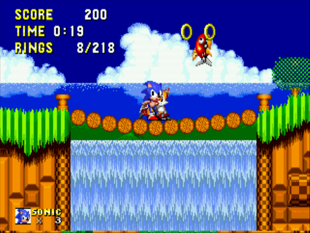 Sonic 2 Delta II - com on you stupid fish - User Screenshot