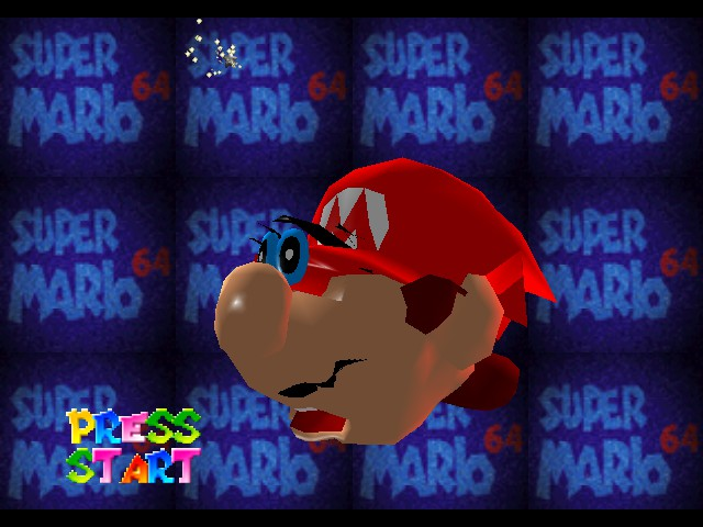 "Super Mario 64 - Introduction  - ""What happened to my face?"" - User Screenshot"
