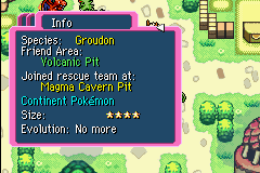 Pokemon Mystery Dungeon - Red Rescue Team - Character Profile  - Groudon =D - User Screenshot