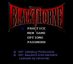 Blackthorne - Introduction  - Title Screen - User Screenshot