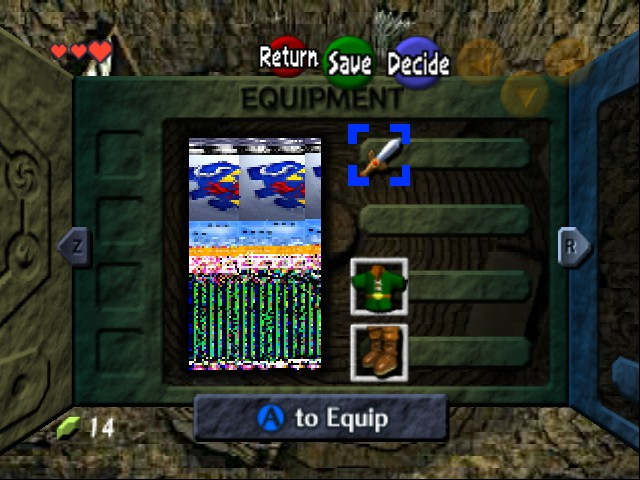 The Legend of Zelda - Ocarina of Time - Level  - Well Done your Link Evovled into... What the? - User Screenshot