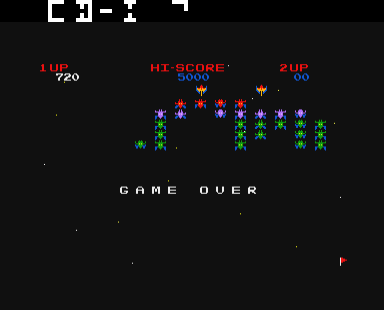 Galaxian - Very cool game over effect.