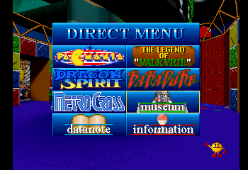 Namco Museum Vol. 5 - Game Select  - Via direct menu - User Screenshot