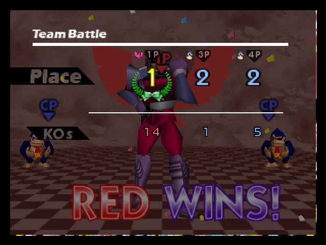 Super Smash Bros. - Battle  - i beated two level 9 DK - User Screenshot