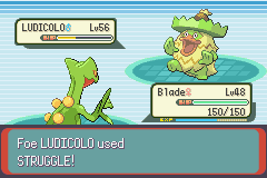 Pokemon Emerald - Battle  - worst way for a champion to go - User Screenshot