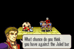 Fire Emblem - Tactics Universe - Battle  - Seriously? Jaled bar? Jail bar? - User Screenshot