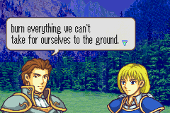 Fire Emblem - Tactics Universe - Cut-Scene  - Words to live by - User Screenshot