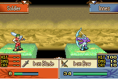 Fire Emblem - The Sacred Stones - Battle  - The power of a sniper - User Screenshot