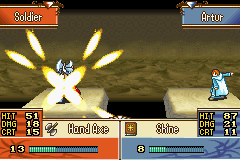 Fire Emblem - The Sacred Stones - Battle  - The light!! It BURNSSS!!!! - User Screenshot