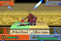 Fire Emblem - The Sacred Stones - Battle  - IN THE FACE!!!! - User Screenshot