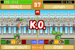 Monster Rancher Advance 2 - Battle  - Two shots - User Screenshot