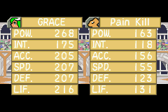 Monster Rancher Advance 2 - Battle  - Pain Kill? Ironic lol - User Screenshot