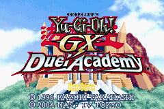 Yu-Gi-Oh! GX - Duel Academy - Menus Title Screen -  - User Screenshot