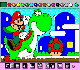 Mario Paint (Joystick) - Misc  - Mario World Christmas Edition - User Screenshot