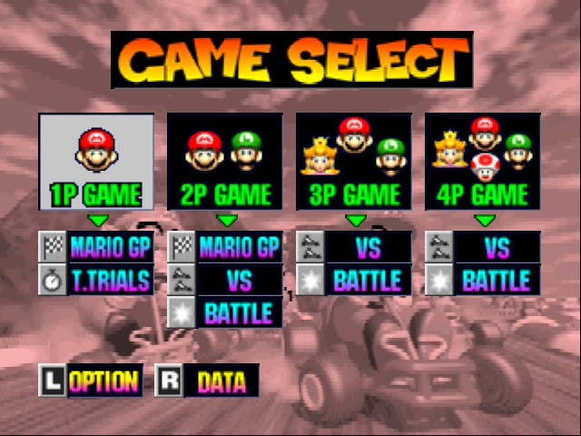 Mario Kart 64 - Menus Game Select -  - User Screenshot