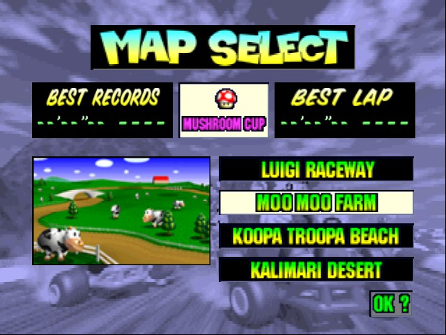 Mario Kart 64 - Level Moo Moo Farm -  - User Screenshot