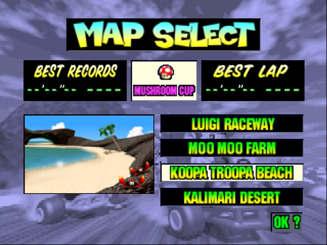 Mario Kart 64 - Level Koopa Troopa Beach -  - User Screenshot