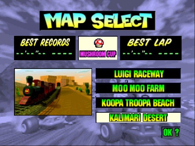 Mario Kart 64 - Level Kalimari Desert -  - User Screenshot