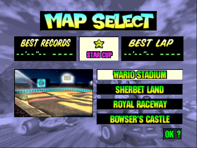 Mario Kart 64 - Level Wario Stadium -  - User Screenshot