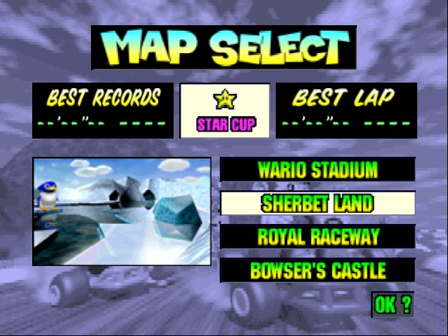 Mario Kart 64 - Level Sherbert Land -  - User Screenshot