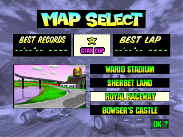 Mario Kart 64 - Level Royal Raceway -  - User Screenshot