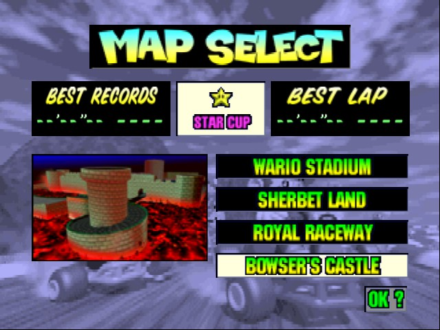 Mario Kart 64 - Level Bowser castle -  - User Screenshot