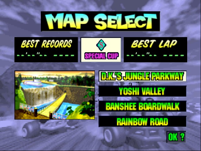Mario Kart 64 - Level DK Jungle Parkway -  - User Screenshot
