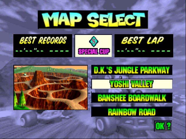 Mario Kart 64 - Level Yoshi Valley -  - User Screenshot