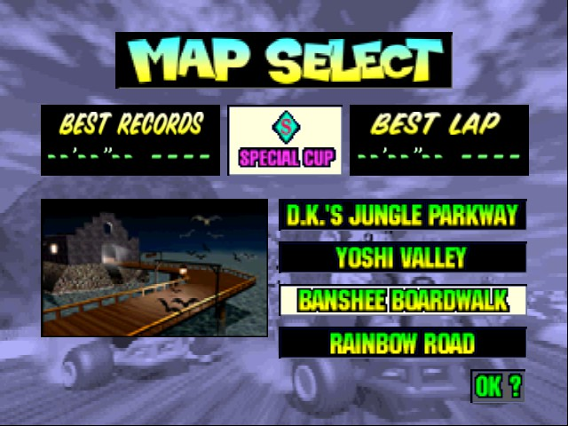 Mario Kart 64 - Level Banshee Bourdwalk -  - User Screenshot