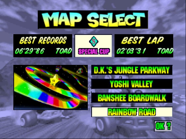 Mario Kart 64 - Level Rainbow Road -  - User Screenshot