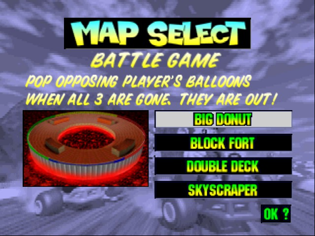 Mario Kart 64 - Level Select  -  - User Screenshot