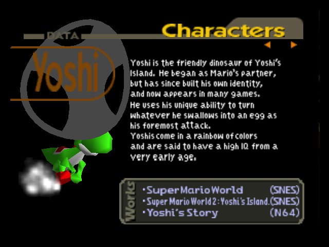 Super Smash Bros. - Character Profile  -  - User Screenshot