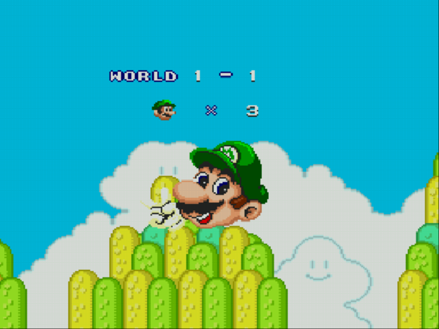 Super Mario Bros II 1998 (hack) - Luigi with the M on his hat? - User Screenshot