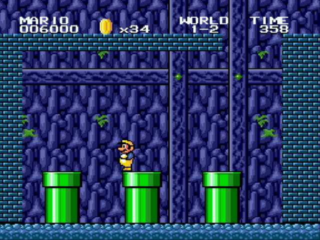 Super Mario Bros II 1998 (hack) - Finally, the warpzone. - User Screenshot