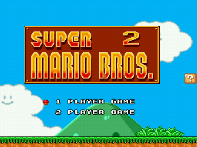 Super Mario Bros II 1998 (hack) - Title screen - User Screenshot