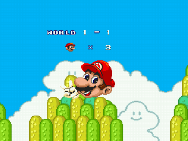 Super Mario Bros II 1998 (hack) - Life counter - User Screenshot
