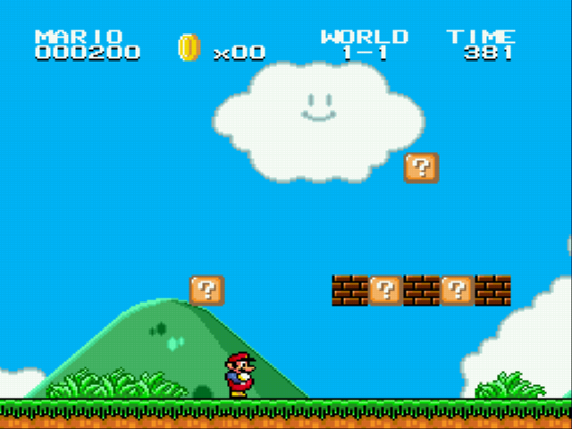 Super Mario Bros II 1998 (hack) - Start bricks - User Screenshot