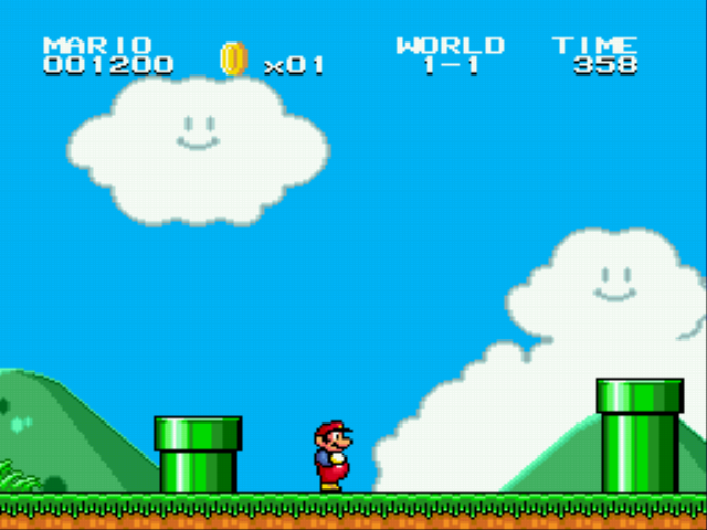 Super Mario Bros II 1998 (hack) - Two pipes - User Screenshot