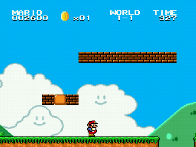 Super Mario Bros II 1998 (hack) - Bricks again - User Screenshot