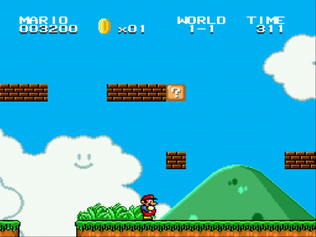 Super Mario Bros II 1998 (hack) - Even moar bricks!!!! - User Screenshot