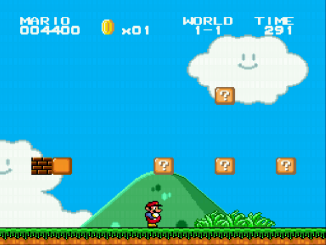 Super Mario Bros II 1998 (hack) - Moar bricks with invisibility - User Screenshot