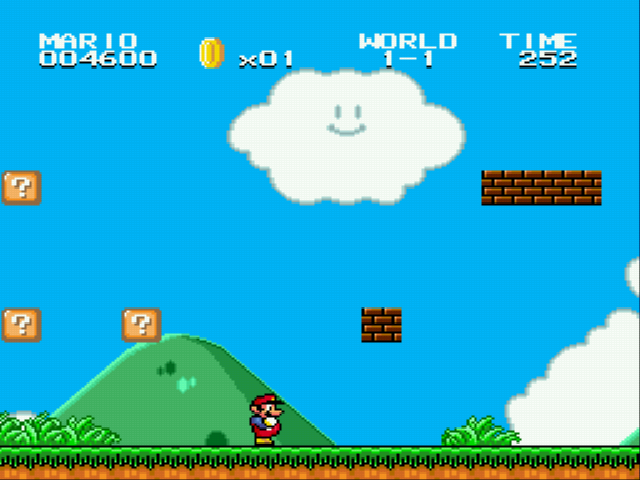 Super Mario Bros II 1998 (hack) - Duh bricks - User Screenshot